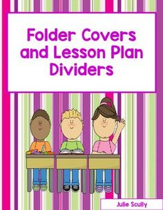. The student folder covers can be glued onto notebooks, folders, or construction paper to hold students assignments.  They can be passed out when seat work is assigned.  Then…