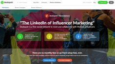 Dealspotr is a free social network to meet and collaborate with lifestyle influencers. Consider it as The LinkedIn of Influencer Marketing. Work Opportunities, Social Link, Self Serve, In A Nutshell, Influencer Marketing, Marketing Tools, Social Networks, Other People, Collaboration