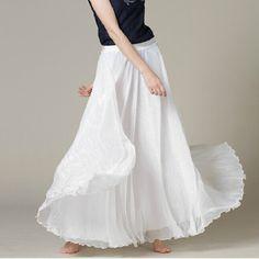 Výsledek obrázku pro white skirt¨long