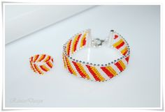 Armband Peyote Schmuck Set Delicia Seed Beads Sunny Dreams  Set Armband Ring von rantaiDesign auf Etsy