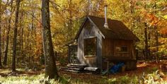 SHARING IS CARING!0000With a Cute Little Out-House and All !  Hermit's Hut, as it's called, is nothing short of a fairy-tail little hut that cozy and magical in its sheer simplicity. A cozy little shelter in the woods, this rustic retreat appears old and vintage, and as you might guess it doesn't even have …