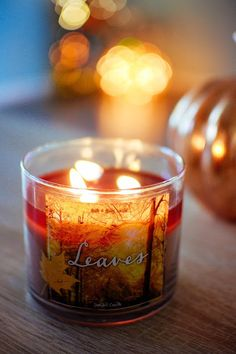 | October | Autumn Scented Candles. Bath & Body Works