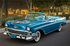 Jim & Chester's Garage Blue… 1956 Bel Air convertible