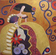 Pinzellades al món: 'Meninas' il·lustrades per Raquel de Bocos Art Pop, Easy Canvas Painting, Canvas Art, Paper Mache Clay, Female Drawing, Abstract Faces, China Painting, Classical Art, Illustrations