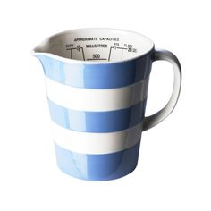 Graduated jug, 18oz/52cl - Cornishware® – Classic British Kitchenware by T.G. Green