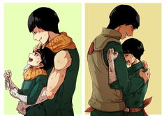 Rock Lee and son, Guy sensei and Rock Lee Naruto Uzumaki, Gaara, Anime Naruto, Comic Naruto, Naruto Gaiden, Manga Anime, Kakashi, Hinata, Guy Sensei