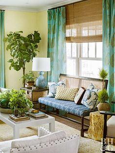 Houseplants displayed in public areas and private quarters make eco-friendly statements that are both eye-pleasing and practical. Houseplants -- whether hanging in a window, set atop a table, or standing tall in a corner -- perform as living sculptures that filter out airborne toxins, add welcome humidity to heated rooms, emit oxygen, and improve a home's overall air quality.