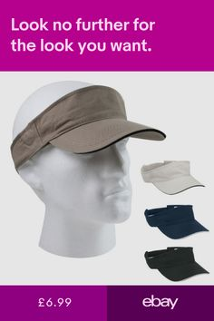 85ff890fd3d19 10 x 100% Cotton Sports Sun Visor Caps Hats for Golf Tennis Fishing Work