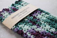 100% Cotton Crochet Wash Cloth Crocheted Cotton by JLZCreations #crochet #crafts #crochetwashcloth #crochetdishcloth #crochetwashrag #camo