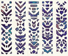 Modern Tribal Mayan Limited Edition Geometric Print by Katlix I simply love these patterns