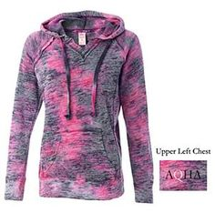 Berry pink AQHA burnout hoodie. A spring wardrobe must have!