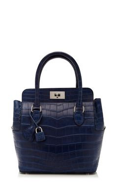 Hermes Blue Saphire Matte Nilo Crocodile Toolbox by Heritage Auctions Special Collection for Preorder on Moda Operandi Crocodile, My Bags, Purses And Bags, Hermes, Best Handbags, Women's Handbags, Beautiful Bags, Birkin, Fashion Accessories