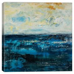 Celebrate naturally chic appeal with this beautiful canvas print, featuring an abstract oceanscape. Hang it in your parlor for a serene setting, or group it ...