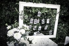 cool way to display guest polaroid shots or engagement photos.
