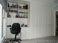Potential to eliminate bits of furniture - build in a cupboard and a workstation/book case