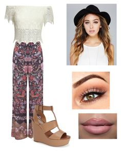 """""""❤️❤️❤️"""" by victoriamajors ❤ liked on Polyvore featuring Miss Selfridge, Steve Madden and Wet Seal"""