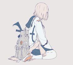 Anime Art Girl, Manga Girl, Aesthetic Art, Aesthetic Anime, Desu Desu, Arte Obscura, Dibujos Cute, Pastel Art, Illustrations And Posters