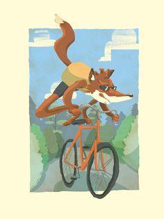 fox on the job - 3 Art Print