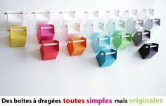 Design favour boxes for weddings, birthdays and christenings - La dragée design : boites à dragées - dragées - faire-part