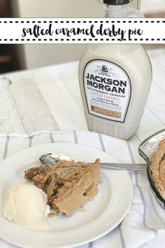 Make this delicious Salted Caramel Chocolate Pecan Pie with Everyday Party Magazine's simple recipe. @jmsoutherncream #Sponsored #DerbyPie #PecanPie #Recipe