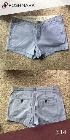 NWT H&M H&M blue and white striped shorts. They are short but not the short short kind. Size 8. 100% cotton but has a denim look. Front and back pockets. They are a light blue in color H&M Shorts