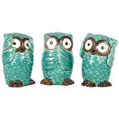 I love the 3 Piece No Evil Owl Statue Set in the Vivid & Vibrant event at Joss and Main!  via Shopmine, get product recommendations based on people you follow!