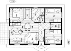 egyszintes családiház alaprajzok - Google keresés Home Interior Design, House Plans, Floor Plans, How To Plan, Architecture, Modern, Image, Home Decor, Google