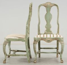 gorgeous Swedish rococo chairs, from the late 1700