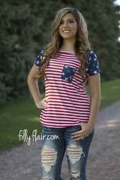 Americana Tee | Your 4th of July outfit complete with stars and stripes!