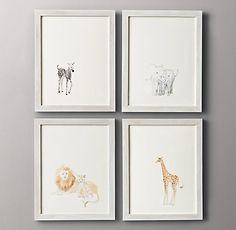 Watercolor Animal Illustrations (Restoration Hardware)