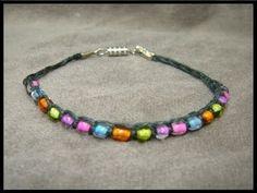 How to Make a beaded hemp bracelet using macrame techniques « Jewelry