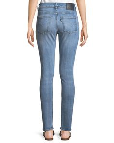 71e02908873 Levi s Made  amp  Crafted 721 Distressed Skinny-Leg Jeans Cotton Spandex