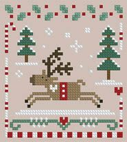 The Floss Box | Dashing Through the Snow Cross Stitch
