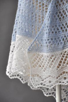Free Knitting Pattern for a Lace Featherdown Shawl