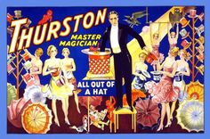 Thurston master magician all out of a hat. 28x42 Giclee on Canvas