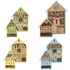 Insect & Bee House Predator Proof Secure Bug Habitat Ladybird Fly Butterfly for sale online Bug Hotel, Insect Hotel, Garden In The Woods, Home And Garden, Garden Insects, Roof Colors, Garden Decor Items, School Design, Bird Houses