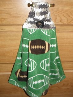 Football Theme Hand Towel Hanging Towel Game Day by CilesBoutique Football Themes, Hanging Towels, Handmade Items, Handmade Gifts, Barbecue Grill, Hostess Gifts, Hand Towels, Stocking Stuffers, Christmas Stockings
