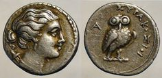 Sicily, Syracuse AR 1.25 Litra. Time of Hieron II, 275-215 BC. Head of Artemis right, quiver at shoulder / ΣYPAKOΣION, owl standing facing on branch, A to left. SNG Cop 884, SNGANS 906. * Sear GCV sg1004 * WildWinds.com