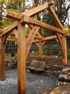 I absolutely love this...it's post & beam-- a structure for the backyard, or wherever.. : )