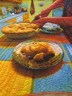 Hungry? Fantastic food quilt! IMG_2443 by quiltbaby, via Flickr