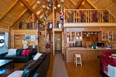 Country log home Log Home Living, Log Homes, Photo Galleries, Loft, Country, Gallery, Bed, Tennessee, Places
