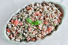 watermelon feta + basil quinoa