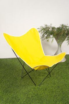 Yellow Canvas Cover on a Black Powdercoated Frame