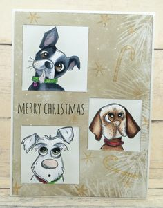 Shelby Thomas: Merry Christmas  Crazy Dogs Tim Holtz  howlidaydog3