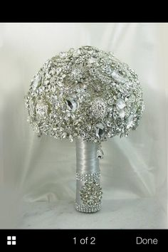 DEPOSIT on a Made to Order Heirloom Broach Bouquet. It shines like a Diamond~~ try a sworovski bouquet! Crystal Bouquet, Wedding Brooch Bouquets, Bride Bouquets, Perfect Wedding, Dream Wedding, Wedding Day, Bling Wedding, Wedding Bride, Corona Floral