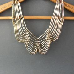 Tribal Metal Festoon Necklace