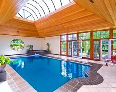 Heavenly indoor swimming pool at 30 Cubitt Drive, DENHAM COURT NSW #house #property #pinterest #architecture