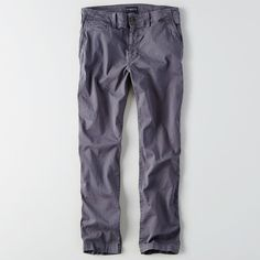 AE Extreme Flex Original Straight Chino ($50) ❤ liked on Polyvore featuring men's fashion, men's clothing, men's pants, men's casual pants, blue, mens blue pants, mens holiday pants, mens chino pants, mens stretch pants and mens blue chino pants