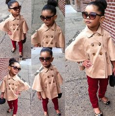 she is too stinkin adorable! Lovin it all- the chic shades, coat, skinnys, flats, bun and the pose! work it mama!
