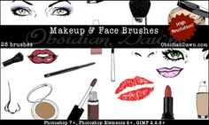 Makeup & Face Sketches Photoshop & GIMP Brushes